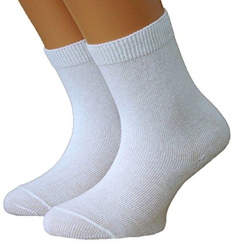 Shimasocks Baby/Kinder Socken weiß 3er Pack, Farben alle:weiß, Größe:18/20 bzw. 62/68
