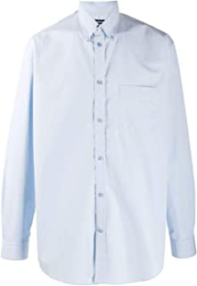 Balenciaga Luxury Fashion Mens 508465TYB184850 Light Blue Shirt | Fall Winter 19
