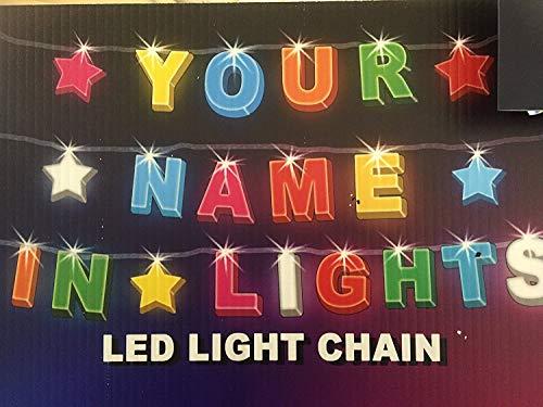 CUALQUIER NOMBRE EN LUCES // Cadena de luz LED con cualquier nombre disponible hasta 16 letras o caracteres consigue ¡TU NOMBRE o MENSAJE EN LAS LUCES! (8)