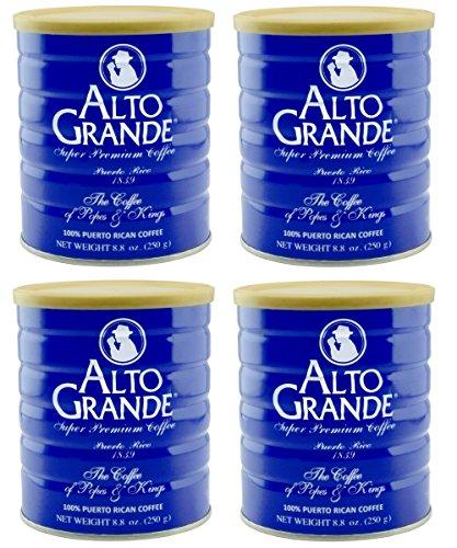 Alto Grande Super Premium Coffee Ground 8.8 Ounces - 4 cans