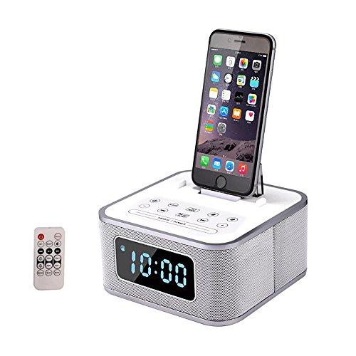 Docking Station Radio FM Altavoz Bluetooth inalámbrico Estación de Acoplamiento Llamadas manos...