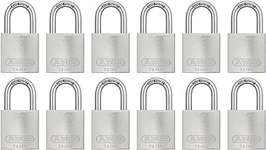 ABUS 72/40 铝制*挂锁银色钥匙扣类似 - 12 个装
