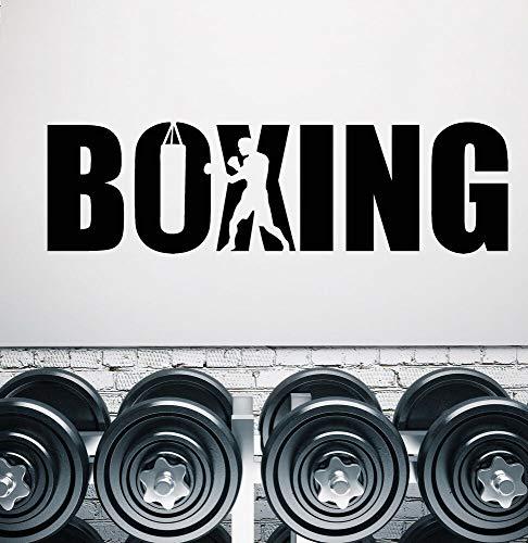 Calcomanía de vinilo para pared, boxeador de boxeo, gimnasio, letrero
