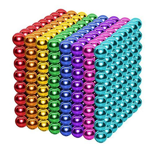 SUYUDD Mágico Pequeña Bola Creativa Cubo de Mágico Rompecabezas Bola, 1000 Piezas 5 mm Juguetes de Bricolaje Bloques de construcción para le Desarrollo Aprendizaje y Alivio del estrés Juguetes
