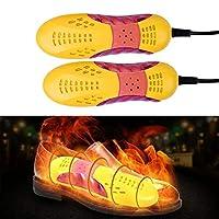 ポータブル電気靴乾燥機、靴ヒーターウォーマー、靴脱臭剤、滅菌除湿恒温乾燥、黄色