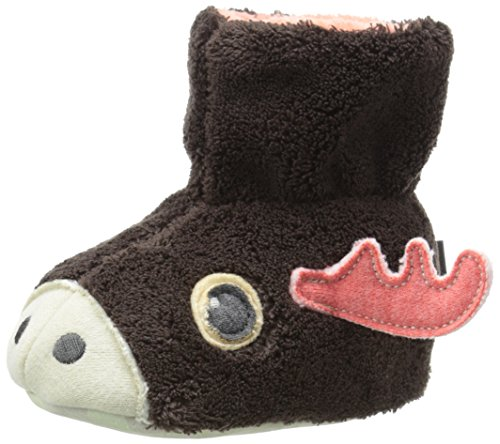 Acorn Kids Easy Critter Bootie Slipper, Moose, XL
