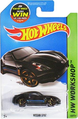 Hot Wheels, 2015 HW Workshop, Nissan 370Z [Black] Die-Cast Vehicle #248/250 by Hot Wheels