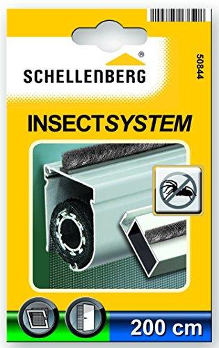 Schellenberg 50844 Bürstendichtung selbstklebend für Insektenschutzfenster und Insektenschutztüren, 5 x 4 mm, 2 m
