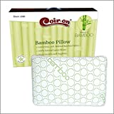 Coir-on 100% Natural Bamboo Latex Pillow for Sleeping with Organic Cotton Outer Covering