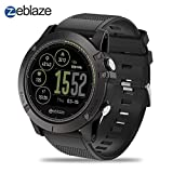 Zeblaze Super Lightweight Vibe 3 HR Smart Watch, Rugged Inside Out HR Monitor 3D UI All-Day Activity Record 1.22' IPS IP67 Waterproof Smart Watch for Activity Tracker Black