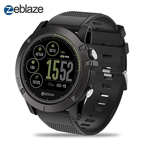 Zeblaze Super Lightweight Vibe 3 HR Smart Watch, Rugged Inside Out HR Monitor 3D UI All-Day Activity Record 1.22