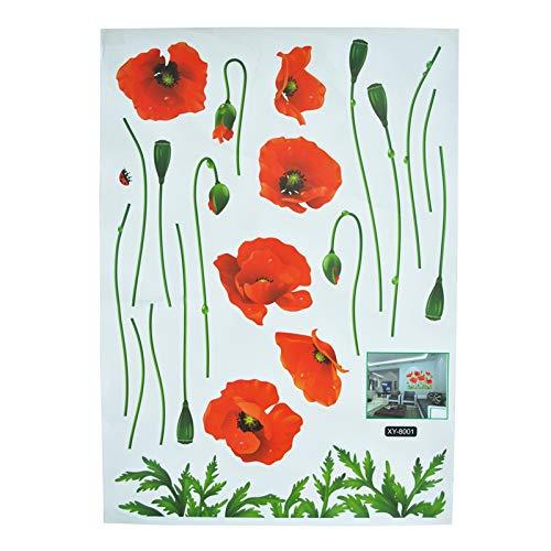 Adhesivo decorativo para pared de PVC con diseño de mujer, resistente al agua, cálido, para habitación o sofá, color rojo