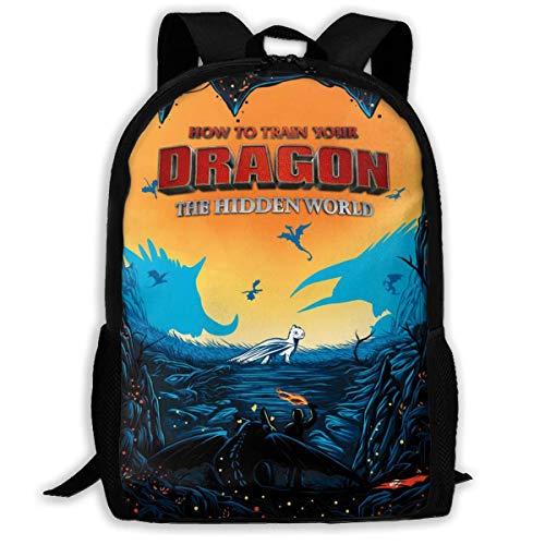 Trendy laptoprugzak voor jongens en meisjes, waterdichte duurzame handtassen voor het werken vissen reizen, zoals je je je draak traint, 3 posters movie bookbags