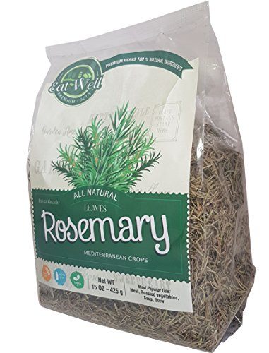 Eat Well Premium Foods - Rosemary Leaves 16 oz, Whole Dried Rosemary Spice (Rosmarinus officinalis), Natural