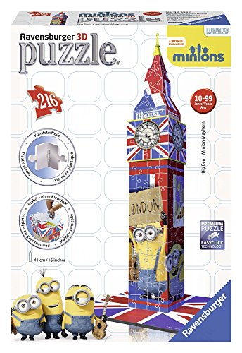 Ravensburger 12589 - Big Ben Minions Bauwerke 3D Puzzle, 216-teilig