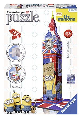 Ravensburger 12589 - Big Ben Minions Bauwerken 3D puzzel, 216-delig
