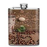 ブルームン 酒器 酒瓶 お酒 フラスコ コーヒー豆 ボトル 携帯用 フラゴン ワインポット 7oz 200ml ステンレス製 メンズ U型
