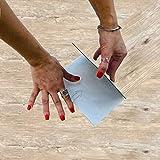 2,69 m2 Pavimento PVC adesivo effetto legno pavimento vinilico autoadesivo 18.4X91.4 cm pavimento laminato adesivo pvc (pacco da 2,69 m2) (SENSO PECAN)