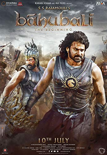 JUNLIZHU Bahubali The Beginning Movie (60cm x 87cm | 24inch x 35inch) Silk Print Poster Silk Printing / 395415