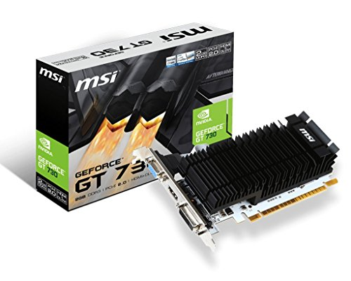 Msi N730K-2Gd3H/Lp Nvidia Geforce Gt 730 Low Profile Grafische Kaart, Pci Express 2.0, 6Gb Gddr5, 192 Bit