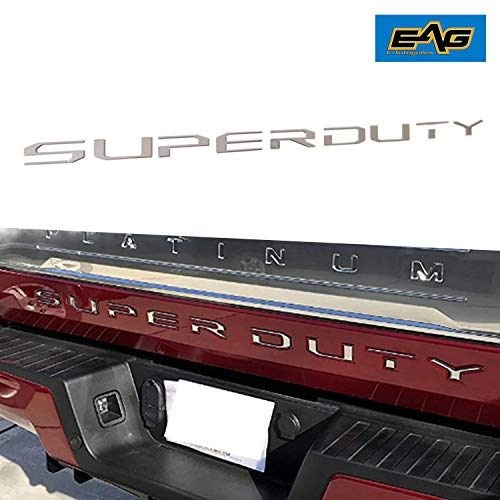 EAG Hood Insert Letters Chrome Fit for 2017-2018 Ford Super Duty F250//F350//F450