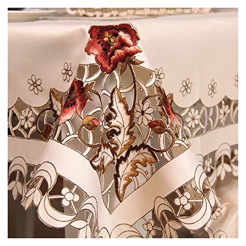 LINMAN Europa Lujo Bordado Mantel de Mesa Mesa de Comedor Cubierta de Mesa de Mesa Cubierta de Silla de Flores de Boda Hogar Textil (tamaño : 175 X 270cm)