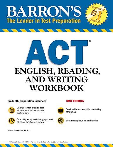 ACT English, Reading, and Writing Workbook (Barron's Test Prep)