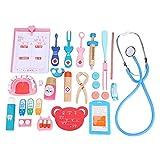 Jacksking Cosplay Doctor Toy, Niños Madera Educativo Divertido Juego de imaginación Real Life Cosplay Doctor Game Toy, Juguete de Madera