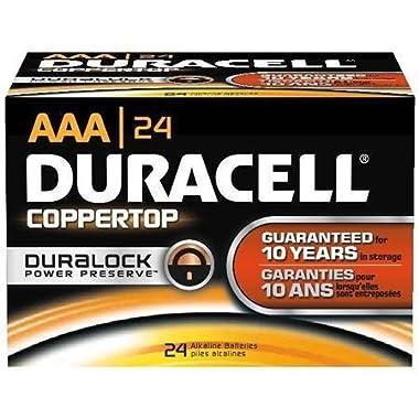 24 Pack  AAA  Duracell CopperTop Alkaline Batteries
