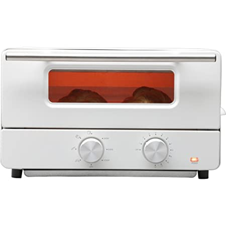 ヒロ・コーポレーション オーブントースター 2枚 温度調節 スチーム機能 トレー レシピブック付 ホワイト HCST2016-I