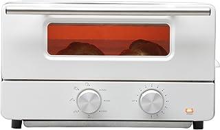 ヒロ・コーポレーション オーブントースター スチーム機能付 トースト2枚 ホワイト HCST2016-I