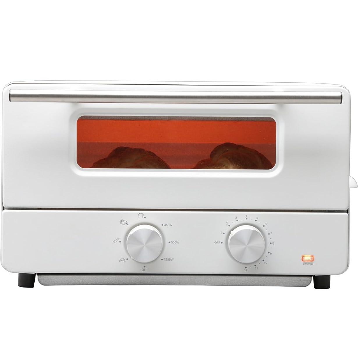 曲がったジャーナル才能のあるヒロ?コーポレーション オーブントースター スチーム機能付 トースト2枚 ホワイト HCST2016-I