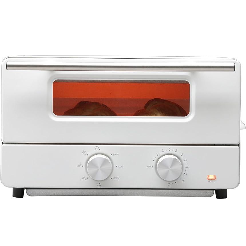 窓接続されたアラブ人ヒロ?コーポレーション オーブントースター スチーム機能付 トースト2枚 ホワイト HCST2016-I
