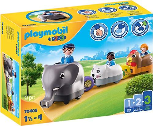 PLAYMOBIL 1.2.3 Mi Tren de Animales, A partir de 18 meses (70405)
