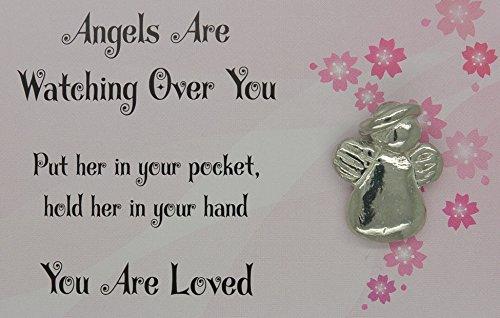 Schutzengel, Glücksbringer Angels Are Watching Over You - Engel aus Zinn (Pewter) von Hand Gegossen