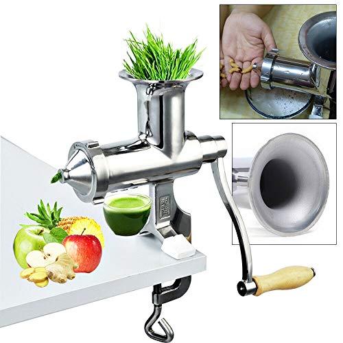 OUKANING Manuelle Entsafter Maschine - Entsafter aus Edelstahl für Weizengras & Gemüse BL-30