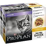 PRO PLAN Nutrisavour Junior  - Au Poulet en gelée - Pochons pour chaton 10 x 85 g