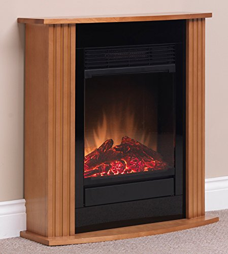 Dimplex 049971 MCFP15O Orvieto Electric Micro-Fireplace Suite, 1.5 kW, 230 W, Oak