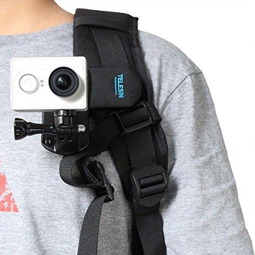 GOZAR Rugzak Clip Mount 360 Graden Roterende Snelle Klem Voor Xiaomi Yi GOPRO SJ4000 Sony Action Camera
