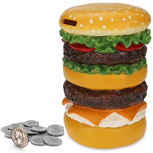 Kids Piggy Bank, TOPBRY Hamburger C…