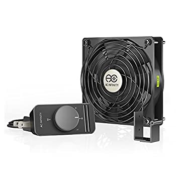 AC Infinity AXIAL S1225 120mm Muffin Fan with Speed Controller UL-Certified for Doorway Room to Room Wood Stove Fireplace Circulation Projects