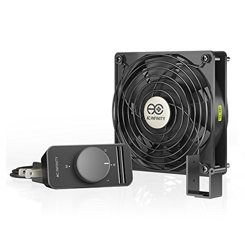AC Infinity AXIAL S1225, 120mm Muffin Fan with Speed Controller, for Doorway, Room to Room, Wood Stove, Fireplace, Circulation Projects
