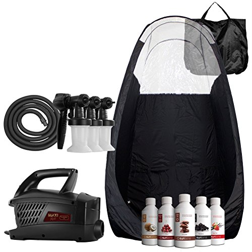 Maximist Evolution TNT Spray Tanning Complete Kit - Includes Black Tent FREE Suntana Premium Sunless Solutions