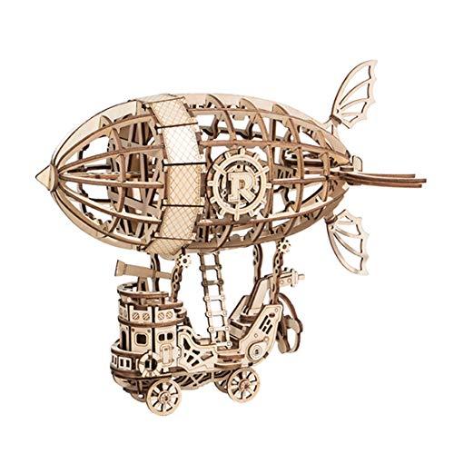 YaKia 3D Puzzle Holz, Luftschiff Holzpuzzle Modell Bausatz, Modellbau Bausätze für Teen und Erwachsene