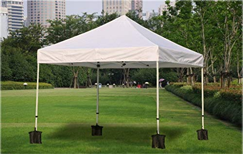 PREMIUM QUALITY Grade-Heavy-Duty-Double-Stitched-Weights-Bag,-Leg-Weights-for-Pop-up-Canopy-Tent-Weighted-Feet-Bag-Sand-Bag-outdoor-bag-Black(4pcs,-Black)(gazebo weights black/gazebo sand weights)