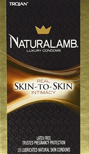 Naturalamb Natural Skin Condoms, Lubricated, 10 condoms