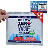 Below Zero Colder Than Ice Packs - Add Water & Freeze - 4 Pack 10x9in Longest Lasting Ice Pack for Lunch Bags, Fits Large and Small Insulated Coolers - No Ice Needed - Lasts Up to 48 Hrs