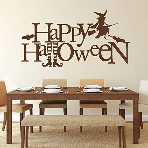 HNXDP Hexenwandtattoos Halloween dekorative Vinylaufkleber Abziehbilder für Wohnzimmer Schlafzimmer oder Haustür Dekoration WSJ03 111x57cm