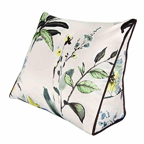 Chi Cheng Fang Electronic business Lumbar Pillows Plant flower simulation silk triangle cushion color bedside pillow office lumbar pillow car backrest best gift (Size : 454015cm)