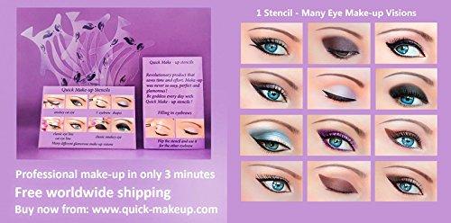 Plantillas de maquillaje rápido ORIGINALES 3 uds. + Muestra gratis de'Quick Eyeliner Stickies' 12...